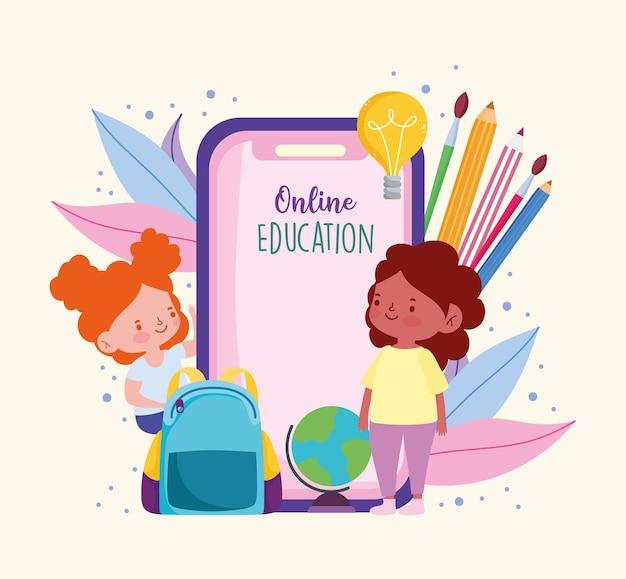 Smartphone voor online onderwijs