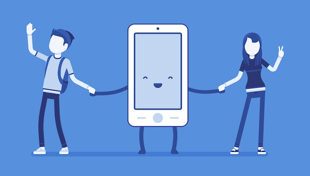 Smartphone-vriendschap met mensen