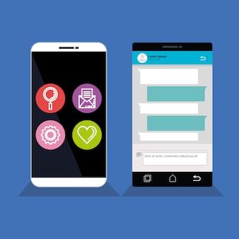 Smartphones instellen met sjabloon