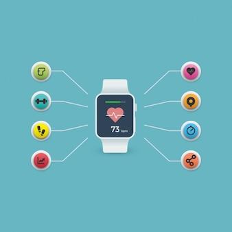 Smartwatch achtergrond ontwerp