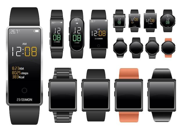 Smartwatch-apparaat geïsoleerd op een witte achtergrond