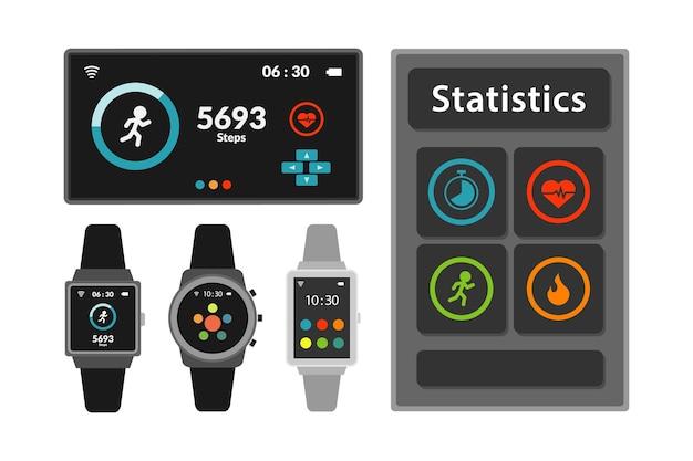 Smartwatch met draagbare technologie