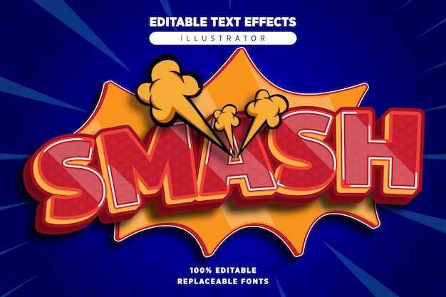 Smash teksteffect bewerkbaar