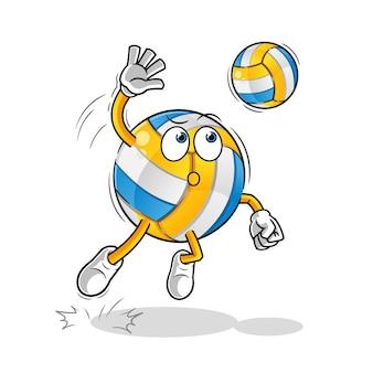 Smash volleybal stripfiguren