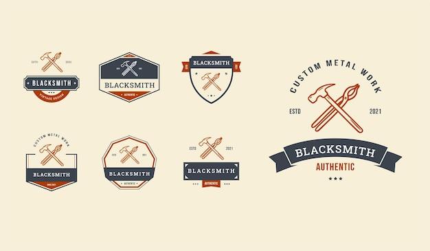Smid badge logo set bewerkbaar