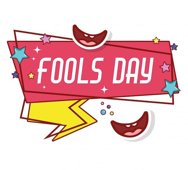 Smiles to fools day celebration op eerste april