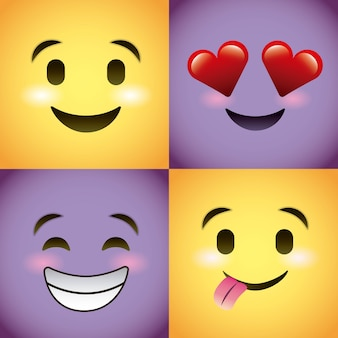 Smiley stelt emoties in