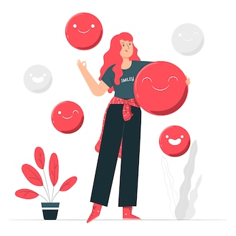 Smileygezicht concept illustratie