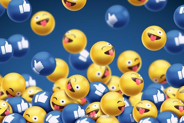 Smileys met facebook houden van achtergrond