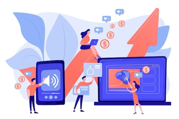 Smm, social media netwerk influencer marketing