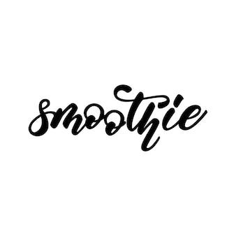 Smoothie belettering ontwerp woord