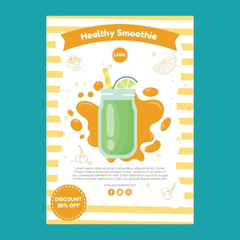 Smoothie flyer sjabloon