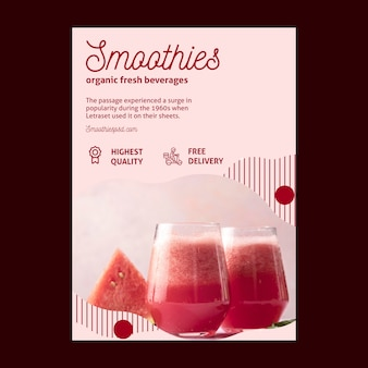 Smoothies bar flyer-sjabloon