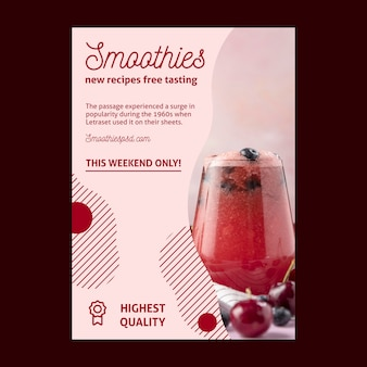Smoothies bar poster sjabloon