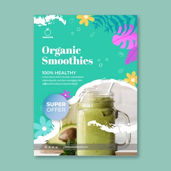 Smoothies bar verticale flyer-sjabloon