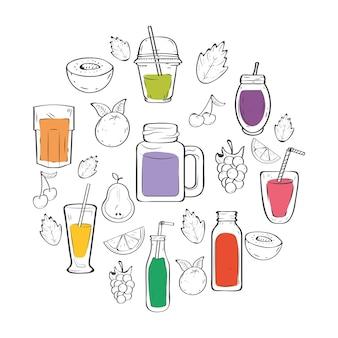 Smoothies drankjes en fruit in de buurt