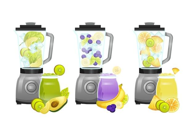 Smoothies in blenderglas