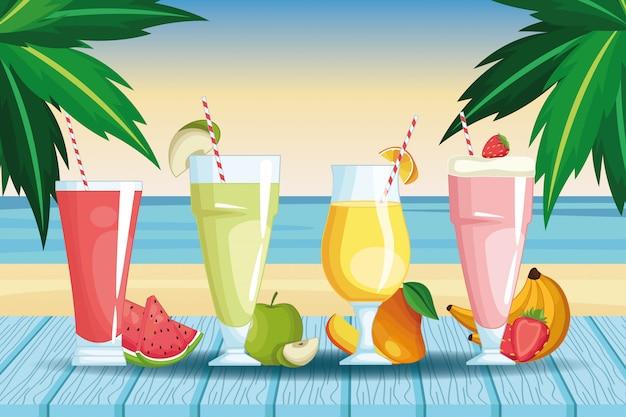 Smoothies met fruit