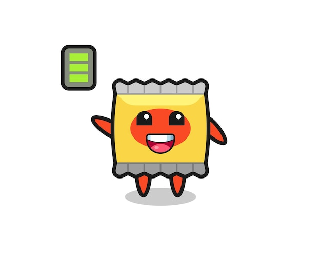 Snack mascotte karakter met energiek gebaar, schattig stijlontwerp voor t-shirt, sticker, logo-element