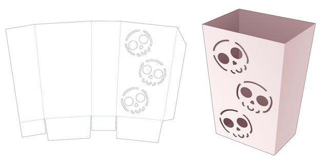 Snackcontainer met gestencild halloween-patroon gestanst sjabloon