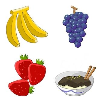Snacks set illustratie