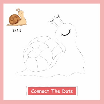 Snail connect the dot-werkblad