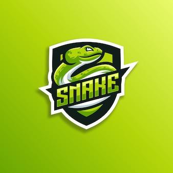 Snake badge op groen