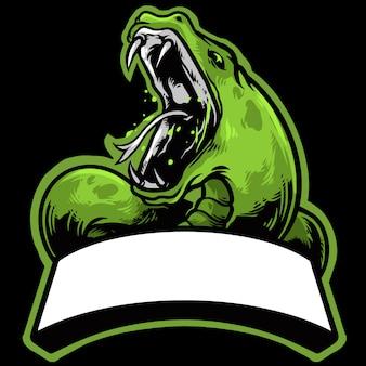 Snake esport logo met banner