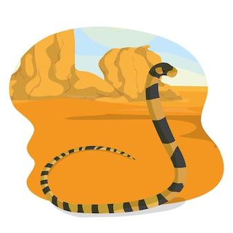 Snake in de woestijn