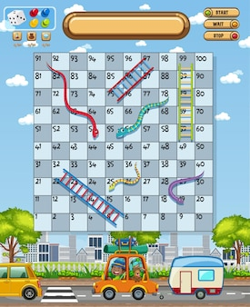 Snake ladder bordspel