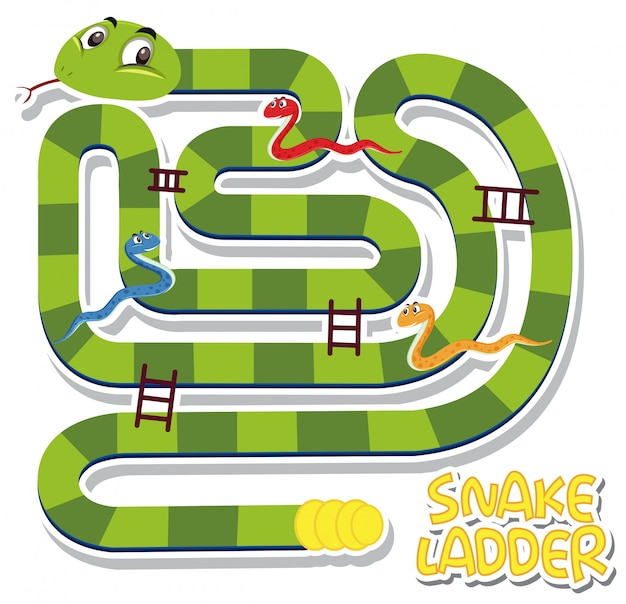 Snake ladder game sjabloon