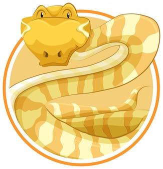 Snake op cirkel sjabloon