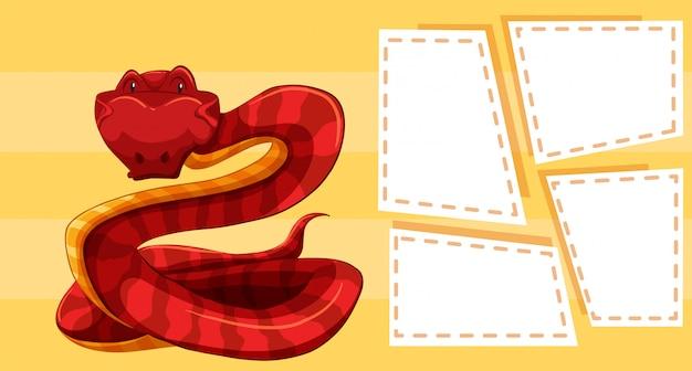 Snake op gele sjabloon
