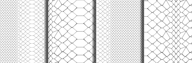 Snake skin zwart-wit naadloze patronen set