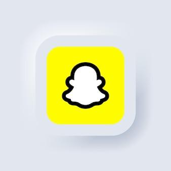 Snapchat-logo. snapchat-pictogram. pictogrammen voor sociale media. realistische snapchat-app-set. logo. vector. zaporizja, oekraïne - 22 juni 2021