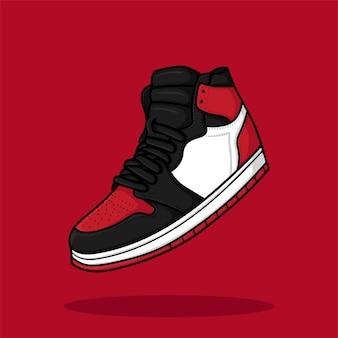 Sneaker cartoon illustratie vector