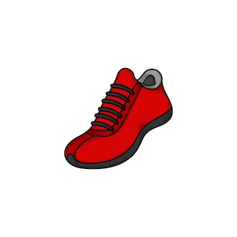 Sneaker schoen hand getekende illustratie pictogram ontwerpsjabloon