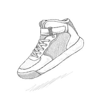 Sneaker schoenen doodle krabbel tekening