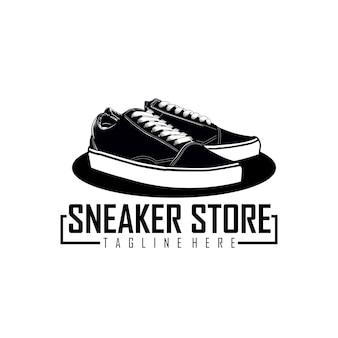 Sneaker store logo sjabloon