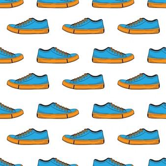 Sneakers schoenen naadloos patroon