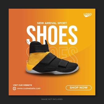 Sneakers social media banner en instagram postontwerp