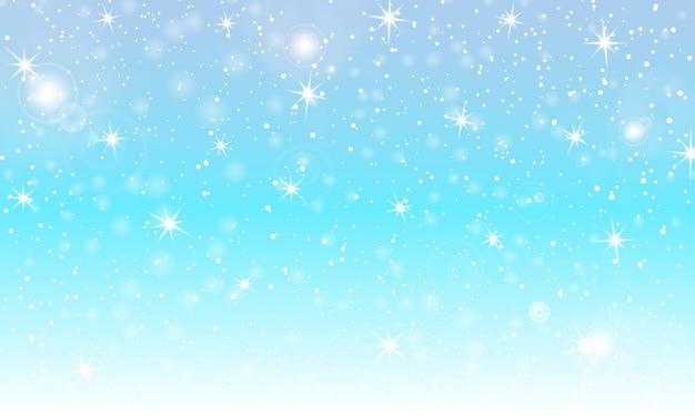Sneeuw achtergrond. winter sneeuwval. witte sneeuwvlokken op blauwe hemel. kerst achtergrond. vallende sneeuw.