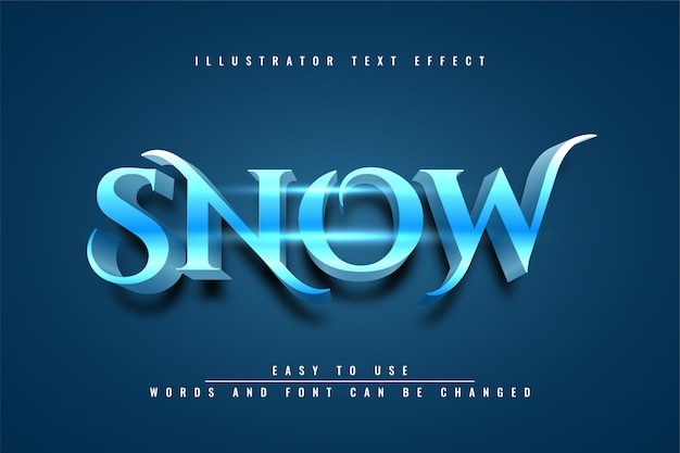 Sneeuw - bewerkbaar teksteffect