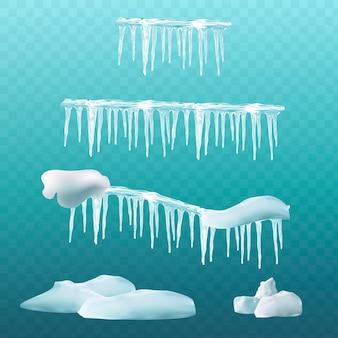 Sneeuw elementen.