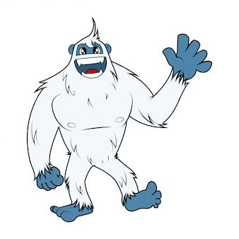 Sneeuw monster yeti