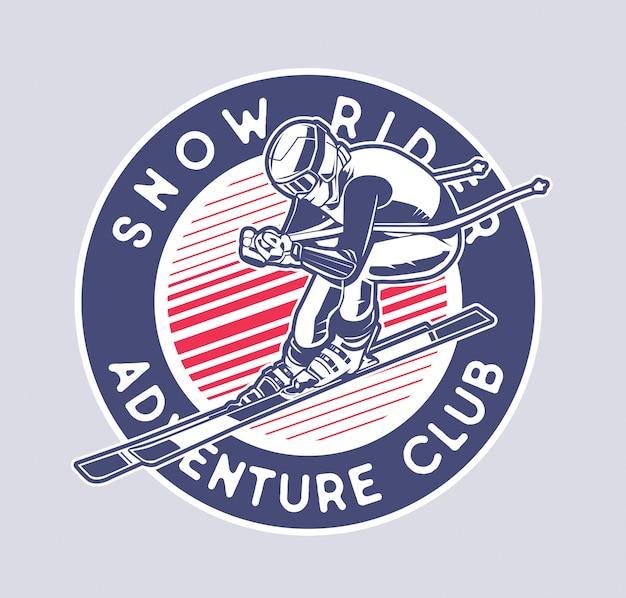 Sneeuw ruiter