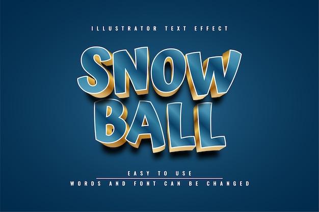 Sneeuwbal - bewerkbaar teksteffect sjabloonontwerp