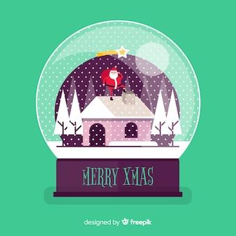 Sneeuwbalbol met kerstmisconcept