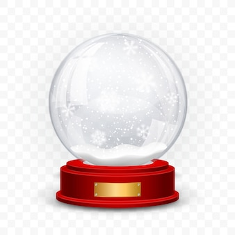 Sneeuwbolbal die op transparante achtergrond wordt geïsoleerd
