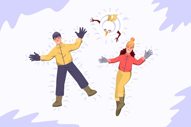Sneeuwengelen - winteractiviteit